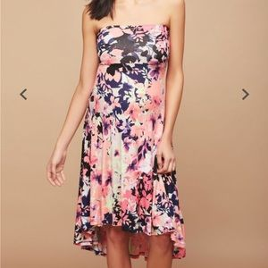Strapless High- Low Maternity Dress